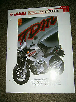 Yamaha TDM850 Complete fact file from Essential Superbikes 28 Pages