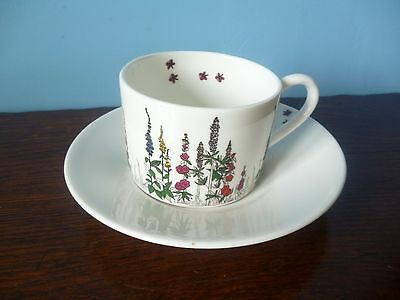 Roy Kirkham Breakfast Cup & Saucer Foxgloves Fine Bone China Lovely