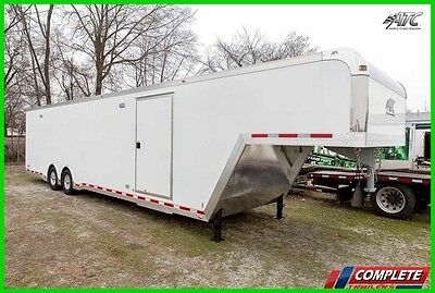 ATC 8.5 X 40 Aluminum Enclosed Gooseneck Cargo Trailer: Cabinets Interior