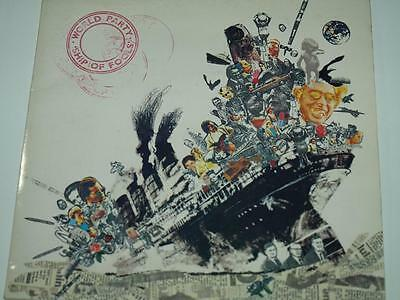 "World Party, (Waterboys) Ship Of Fools, 7"" Single, Gatefold Picture Sleeve, Ex"