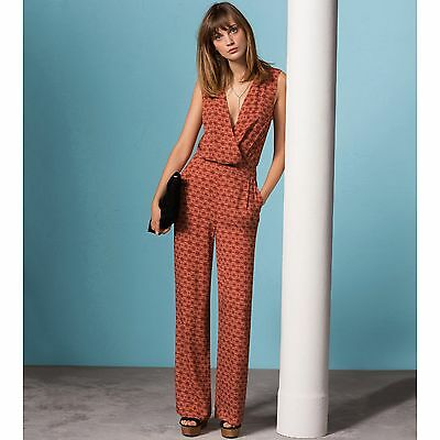 Atelier R Womens Softly Draping Printed Jumpsuit