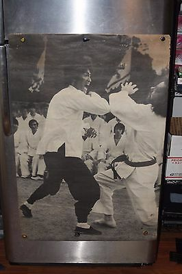 Bruce Lee 1970s B&W 398 (Kung Fu) RARE Poster