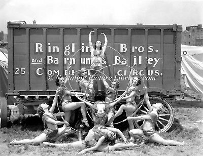 Ringling Bros Circus Photograph Featuring Group Of Artist