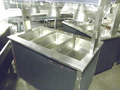 "Vollrath 46"" Portable Three Well Electric Heat  Hold Hot Food Steam Buffet Table"