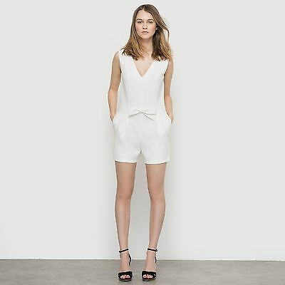 R Edition Womens Sleeveless V-Neck Playsuit With Bow Detail