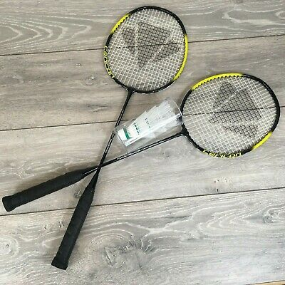 New Carlton Badminton Set 2 Players 2 Rackets & 3 Shuttlecocks in Case Cover