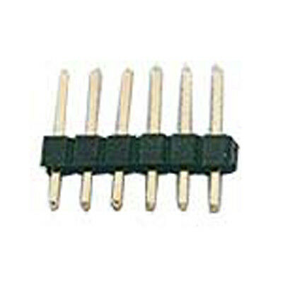"""Header .1/"""" Straight Male 1 Row 4 Pin Goldtail 15 pcs"""