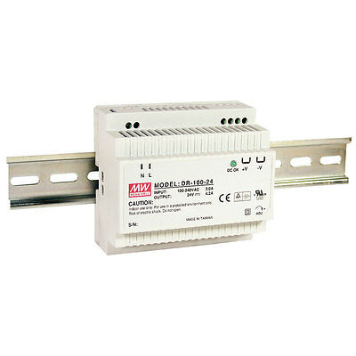 Mean Well DR-100-12 AC to DC DIN-Rail Power Supply 12 Volt 7.5 Amp 90 Watt