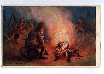 224513 WWI RUSSIA KLEVER-MOSCOW campfire Zemsky Union old