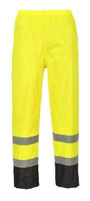 Portwest Work Wear Hi Viz Visibility Contrast Waterproof Rain Over Trousers