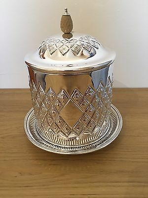 Silver Plated Biscuit Box/Barrel