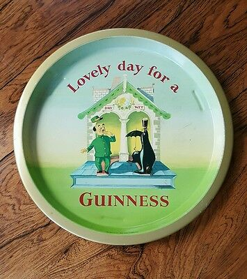 Lovely day for a Guinness original vintage pub tray