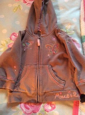 Girl's Buterfly Embroidered Hoody by Next - Age 1.5-2 Years