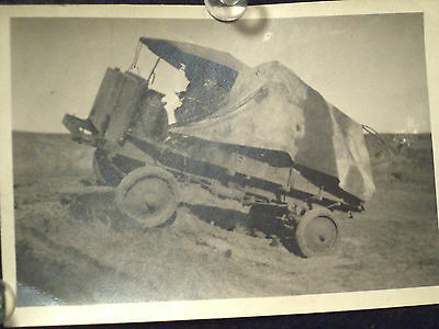 Vintage WWI Real Photo Nash Quad Truck with tarp