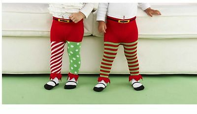 Mud Pie Holiday Christmas Baby Girl and Boy Elf Jingle Bell Tights Choose 130222
