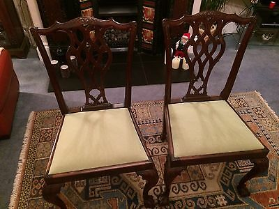 Victorian Chippendale Style Chairs