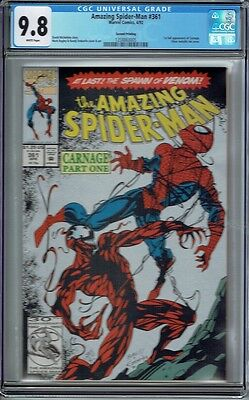 Cgc 9.8 Amazing Spider-Man #361 1St App Carnage Rare 2Nd Pr Variant Silver Cover