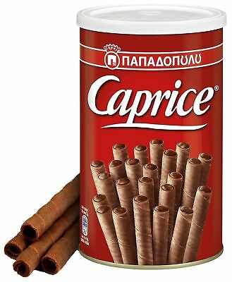 GREEK CAPRICE PAPADOPOULOU VIENNESE WAFERS WITH HAZELNUT & COCOA CREAM 400g