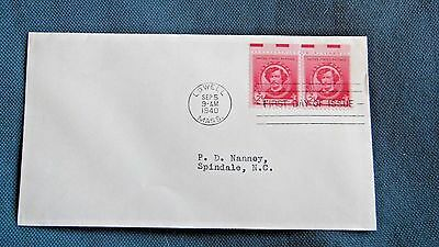Estate Find 1940 First Day Envelope Very Vintage Two 2 Cent Stamps