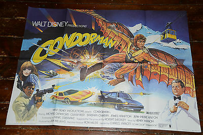 Original Vintage Walt Disney Cinema Quad Poster: CONDORMAN
