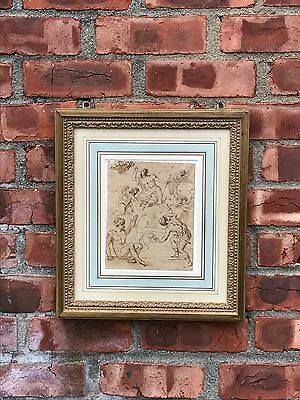 17th C Italian Old Master Drawing. Attr. Anton Zanetti. Sotheby's Sale 12/19/95