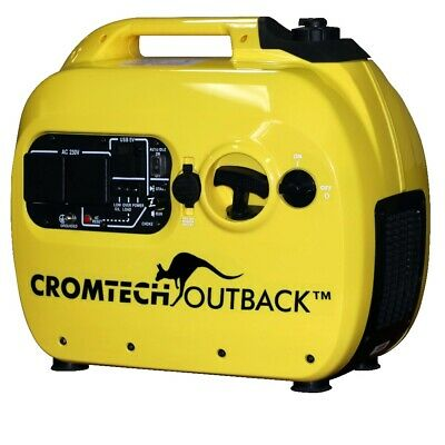 Inverter Generator Cromtech Portable Camping 2.4 kVA Max 2.1kW Rated Super Quiet