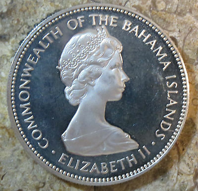 1973 Bahamas 2 Dollars Silver Proof Km# 23 Low Mintage