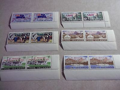 """COOK ISLANDS STAMPS SG 179-84 Scott 164-9 CHURCHILL OVPTS. VARIETY NO DOT on """"i"""""""