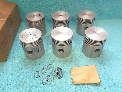 1933-41 Plymouth  4 Ring  .020 Over  Pistons  ( 6 )  New  1116