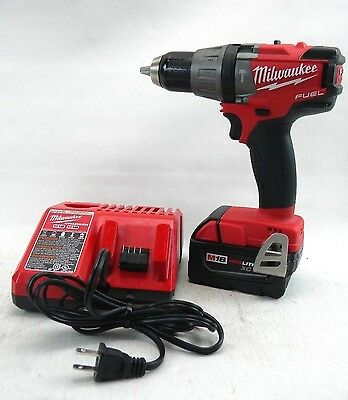 "Milwaukee (2704-20) M18 1/2"" Hammer Drill/Driver with Battery and Charger (J2)"