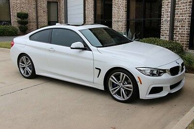 2014 BMW 4-Series Base Coupe 2-Door Alpine White M Sport Technology Premium Drivers Assistance Cameras Heated Seats