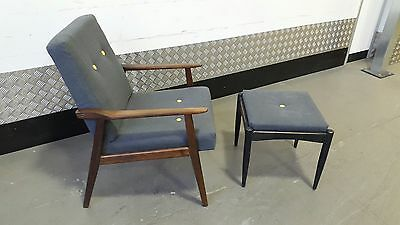 Vintage Scandinavian Armchair Lounge Chair Design Mid Century Renovated