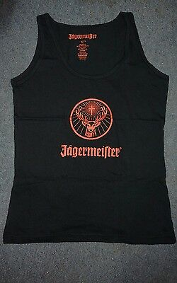 Jagermeister Ladies Promo Jager Tank Top black and Orange - Small - NEW