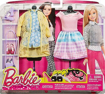 Barbie Fashion Pack 2-Pack, Somewhere Over the Gingham Rainbow  New 3+