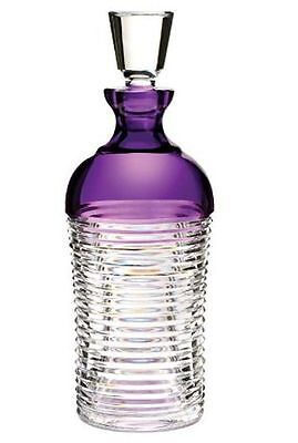 Waterford Mixology Circon Amethyst Purple Crystal Decanter - New In The Box!