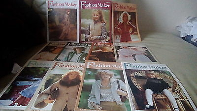 Fashion maker magazines, job lot , vintage 23 issues