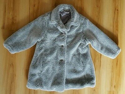 NEXT Faux Fur Girls Grey Coat. Age 3 years