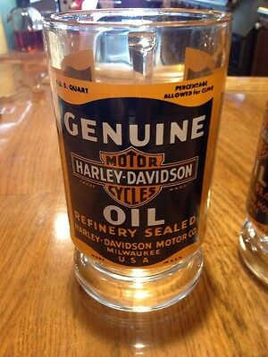 Harley-Davidson NOS Pair Of Oil Can Glasses