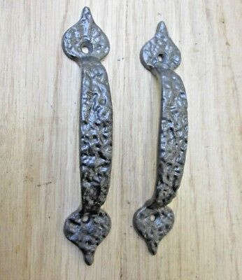 PACK OF 2 cast iron rustic vintage cabinet cupboard drawer door pull handles