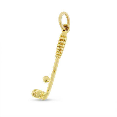 Vintage Golf Club Charm In Solid 14k Yellow Gold