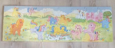 My Little Pony vintage 24 piece wooden floor puzzle by victory 1984