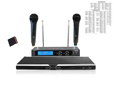 New Karaoke Home System Machine Hdmi Dvd Player Wireless Mics Usb Sd Cdg Dvd