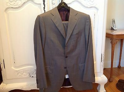 Cesare  Attolini gray pinstriped suit 54 Euro 44US excellent
