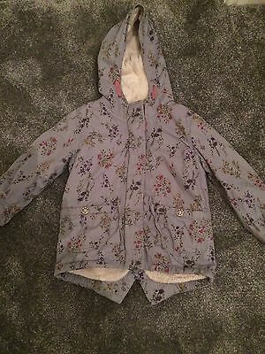 Girls Winter Coat From Next Age 3-4yr. Body And Hood Lined. Grt Condition