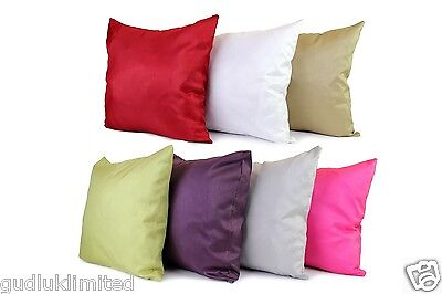 FAUX SILK CUSHION COVER BLACK BROWN WHITE GOLD GREY ZIPPED 45x45cm 18x18 #79