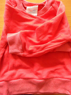 PLAYGRO by BABYGRO, SWEATSHIRT, RED, FADED (SMALL) USED, early 1980's, 3-6 mths