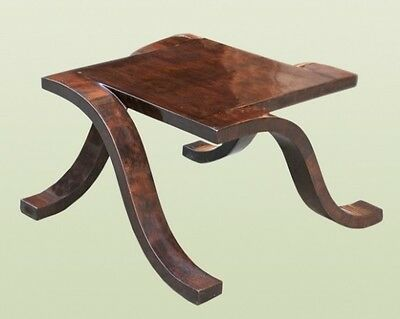 All art deco forms and style walnut  side table