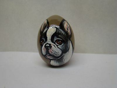 Russian eggs. High quality. Hand-painted  French Bulldog