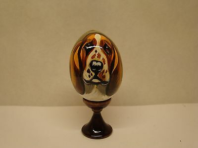 Russian eggs. High quality. Hand-painted Basset Hound