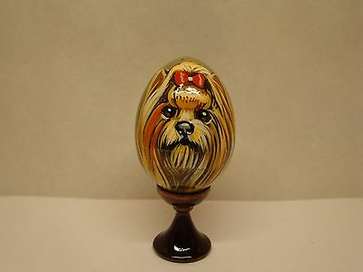 Russian eggs. High quality. Hand-painted Yorkshire Terrier